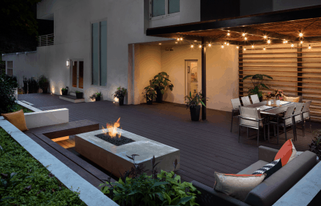 Custom Patio with Fire Feature