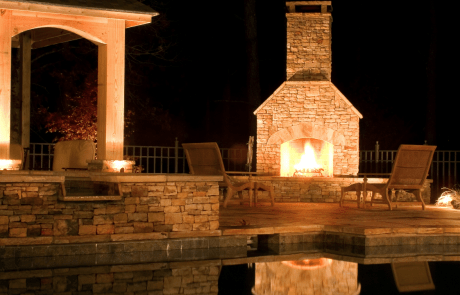Pool & Outdoor Fireplace