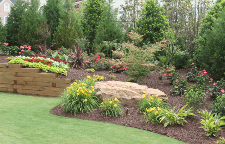 Traditional Outdoor Living Garden Bed