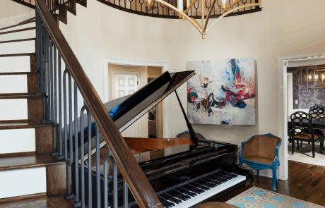 Grand Piano & Staircase